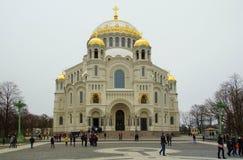 Kotwicowy kwadrat i Morska katedra St Nicholas zdjęcia royalty free