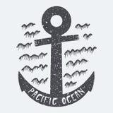Kotwicowy Pacyficzny ocean royalty ilustracja