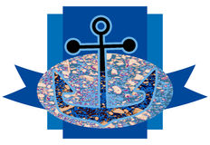 Kotwicowy symbol Fotografia Stock