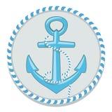 Kotwicowy symbol - wektorowa ilustracja Fotografia Royalty Free