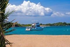 kotwicowy zanurzenie łodzi Zdjęcie Royalty Free