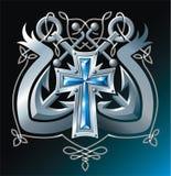 kotwicy krzyżują faborek Fotografia Royalty Free