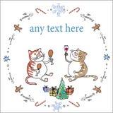 Koty Bożenarodzeniowi Obrazy Royalty Free