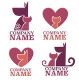 Koty i psy royalty ilustracja