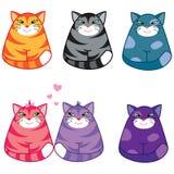 koty śmieszni Royalty Ilustracja