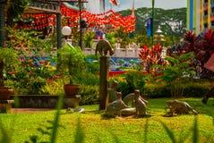 Koty pomnikowi przy w centrum Kuching, Sarawak Malezja Obrazy Stock