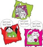 koty ustawiająca rozmowa ilustracja wektor
