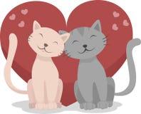 Koty w miłości Fotografia Royalty Free