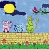 Koty w wiośnie Obraz Stock