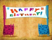 Koty Z Deseniowym mienie plakatem fotografia royalty free
