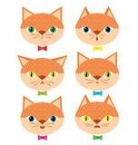 Koty z różnymi emocjonalnymi nastrojami ilustracji