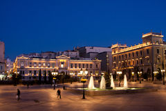 Kotzia Square and Athens Cityhall Royalty Free Stock Photos
