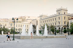 Kotzia Square in Athens Royalty Free Stock Image