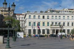 KOTZIA SQUARE AND ATHENS MUNICIPALITY IN GREECE Royalty Free Stock Images
