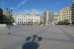 KOTZIA SQUARE AND ATHENS MUNICIPALITY IN GREECE Stock Photo