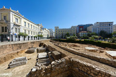 Kotzia Square in central Athens, Greece Royalty Free Stock Image