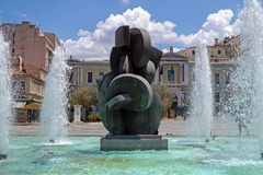 Kotzia Square Fountain, Athens, Greece Stock Photo