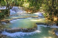 Kouangxi vattenfall, Luang Prabang Laos Arkivfoton