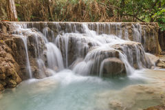 Kouangxi Water Fall in louangprabang Royalty Free Stock Photo