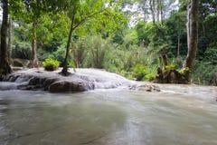 Kouangxi Water Fall. Waterfall in forest at Tat Kuang Si Kouangxi waterfall, Luangprabang, Loas Royalty Free Stock Photography
