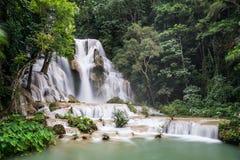 Kouangxi Waterfalls around Luang Prabang,  Laos Stock Photos