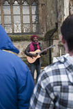 Kouatchou performing in front of Exeter Cathedral Stock Image