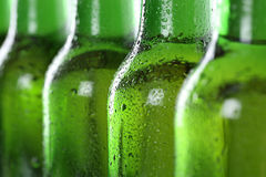 Koud bier in flessen Royalty-vrije Stock Fotografie