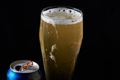 Koud bier in glas royalty-vrije stock foto
