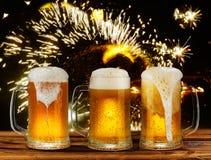 Koud glasmok bier Royalty-vrije Stock Afbeeldingen