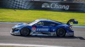 Koudai Tsukakoshi KEIHIN真正赛跑在GT500 Qualiflying猫 免版税图库摄影