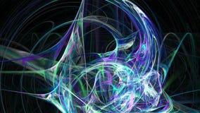 Koude blauwe abstracte de motieachtergrond van het lijnenpatroon vector illustratie