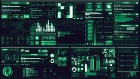 Koude blauwe futuristische interface/Digitale screen/HUD vector illustratie