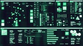 Koude blauwe futuristische interface/Digitale screen/HUD stock illustratie