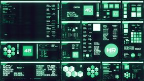Koude blauwe futuristische interface/Digitale screen/HUD royalty-vrije illustratie