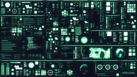 Koude blauwe futuristische interface/het Digitale scherm vector illustratie