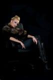 Koude blonde schoonheid Royalty-vrije Stock Afbeelding