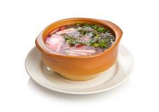 Koude borscht Royalty-vrije Stock Afbeeldingen