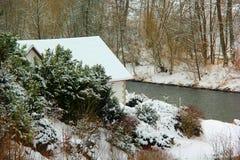 koude de wintersdag Stock Foto