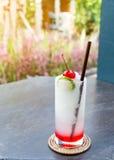 Koude drank in de zomer Royalty-vrije Stock Foto's