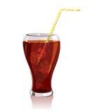 Koude drank, kola met ijs stock illustratie