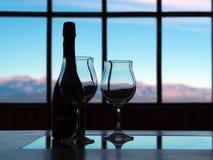 Koude en wijn Royalty-vrije Stock Foto