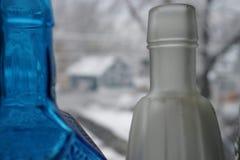 Koude flessen stock afbeelding