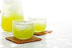 Koude groene thee Stock Afbeelding