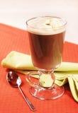 Koude koffie Glasse met roomijs Royalty-vrije Stock Afbeelding