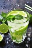 Koude mojito van de de zomerdrank in een lang glas Royalty-vrije Stock Foto's