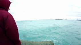 Koude oceaangolven stock videobeelden
