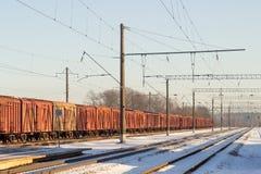 Koude ochtend in Kaunas-station Royalty-vrije Stock Afbeeldingen