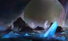Koude planeet vector illustratie