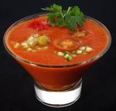 Koude Spaanse soepgaspacho Royalty-vrije Stock Afbeeldingen
