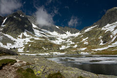 Koude vallei in Hoge Tatra Stock Foto